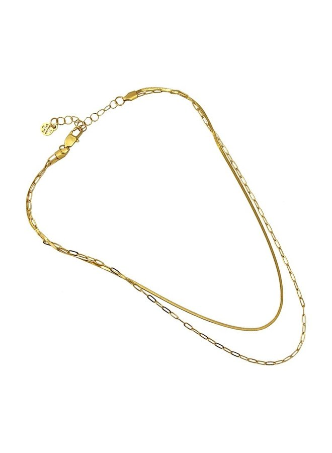 COLLIER MULTI SNAKE 2 CHAINETTES