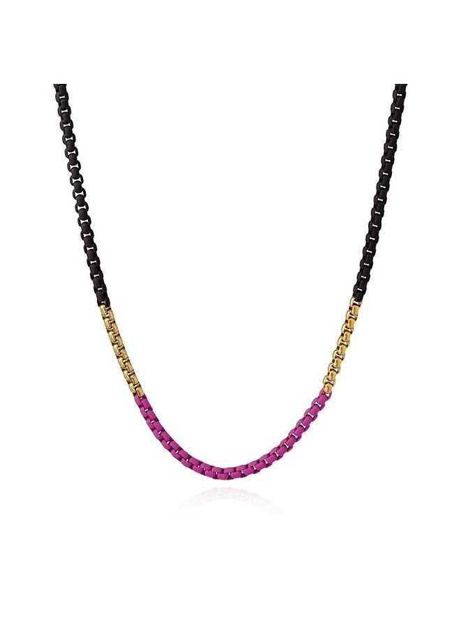 COLLIER EMAILLE KLEURENMIX