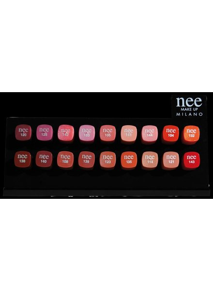 Nee Plex Expo Lipstick with testers