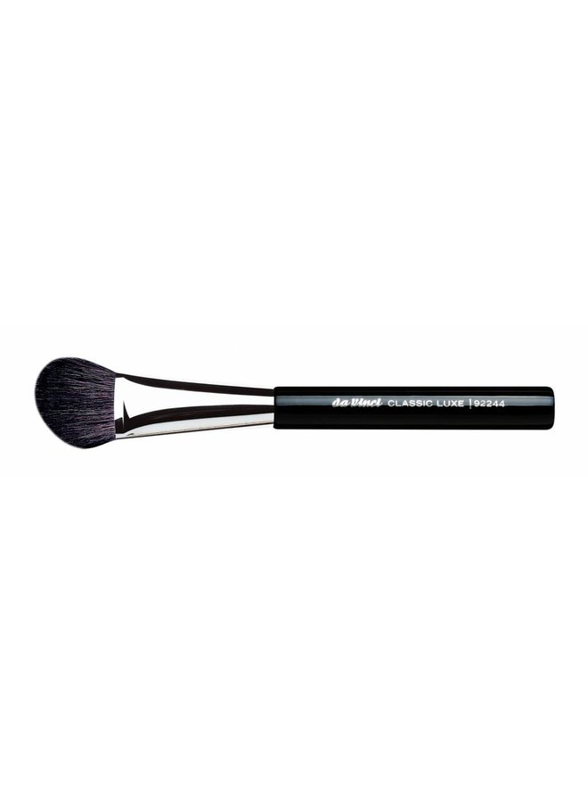 Classic Luxe Blusher/Contour Brush Small & Angled, Extra Fine, Dark Brown Mountain Goat Hair 92244