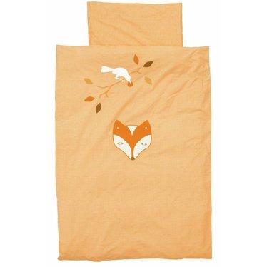 Taftan Taftan dekbedovertrek raaf en vos oranje