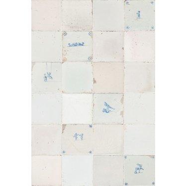 Studio Ditte Leuk Tegeltjes Behang Antiek Blauw van Studio Ditte