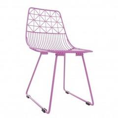 Sebra Sebra Metalen stoel 'sit me' Large Roze