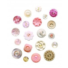 Studio Ditte Studio Ditte Button Muursticker Roze