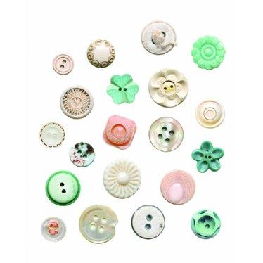 Studio Ditte Leuke Muursticker button van Studio Ditte in de kleur Gemengd