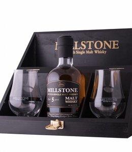 Zuidam Millstone Geschenkkist Single Malt + Glazen, Zuidam Distillers