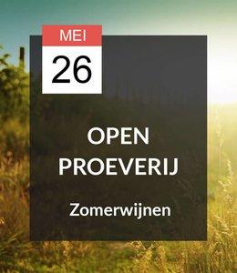26 MEI - Open Proeverij: Zomerwijnen!