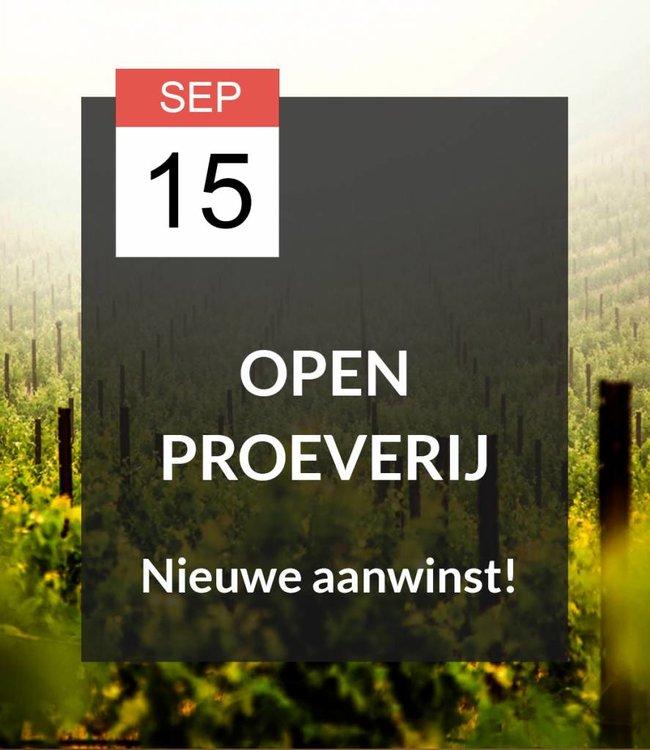 15 SEP - Open proeverij: Nieuwe aanwinst!
