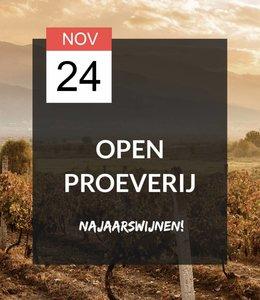 24 NOV - Open proeverij: Najaarswijnen
