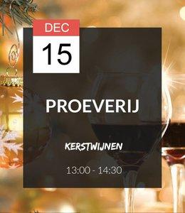 15 DEC - Proeverij: Kerstwijnen (13:00 - 14:30)