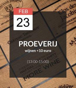 23 FEB - Proeverij: Wijnen onder de €10,- (13:00 - 15:00)