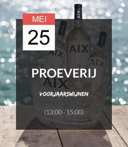 25 MEI - Proeverij: Voorjaarswijnen (13:00 - 15:00)