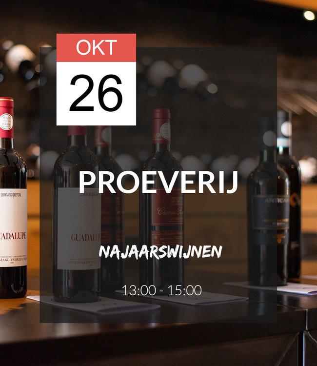 26 OKT - Proeverij: Najaarswijnen (13:00 - 15:00)