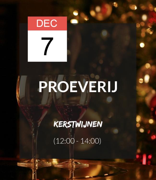 7 DEC - Proeverij: Kerstwijnen (12:00 - 14:00)