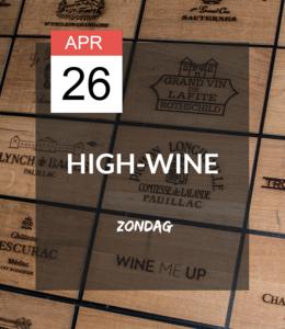 26 APR - High-wine!