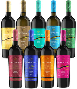 Aspi Winery Proefdoos Savalan Azerbeidzjan: 5 Wit & 4 Rood
