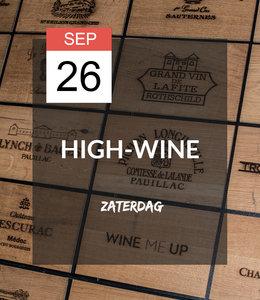 26 SEP - High-wine!