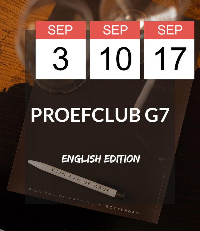 3, 10, 17 SEP - Proefclub G7! English Edition.
