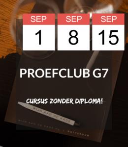 1,  8, 15 SEP - Proefclub G7!