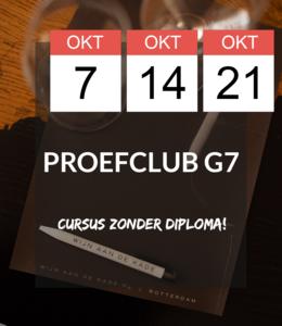 7, 14, 21 OKT - Proefclub G7!