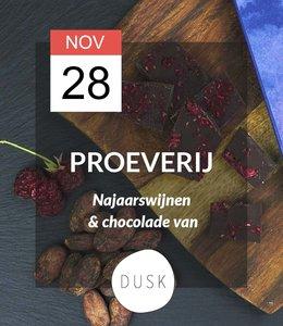 Dusk Chocolate 28 NOV - Proeverij: Najaarswijnen & Dusk Chocolate (14:00 - 16:00)