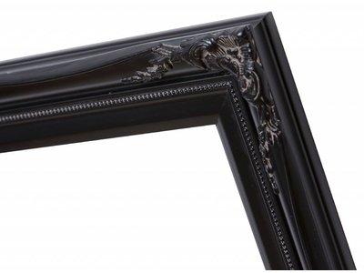 Verona - Klassieke Barok Lijst met Dubbele Rand - Zwart Gekleurd