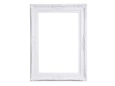 Nice - witte barok lijst met ornament