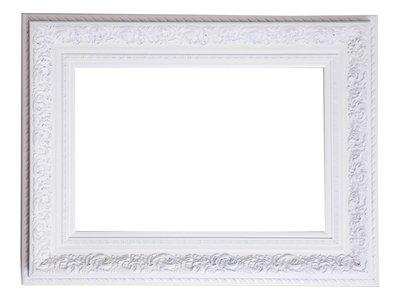 Genova - Luxe Barok Lijst met Windmotief - Wit Gekleurd