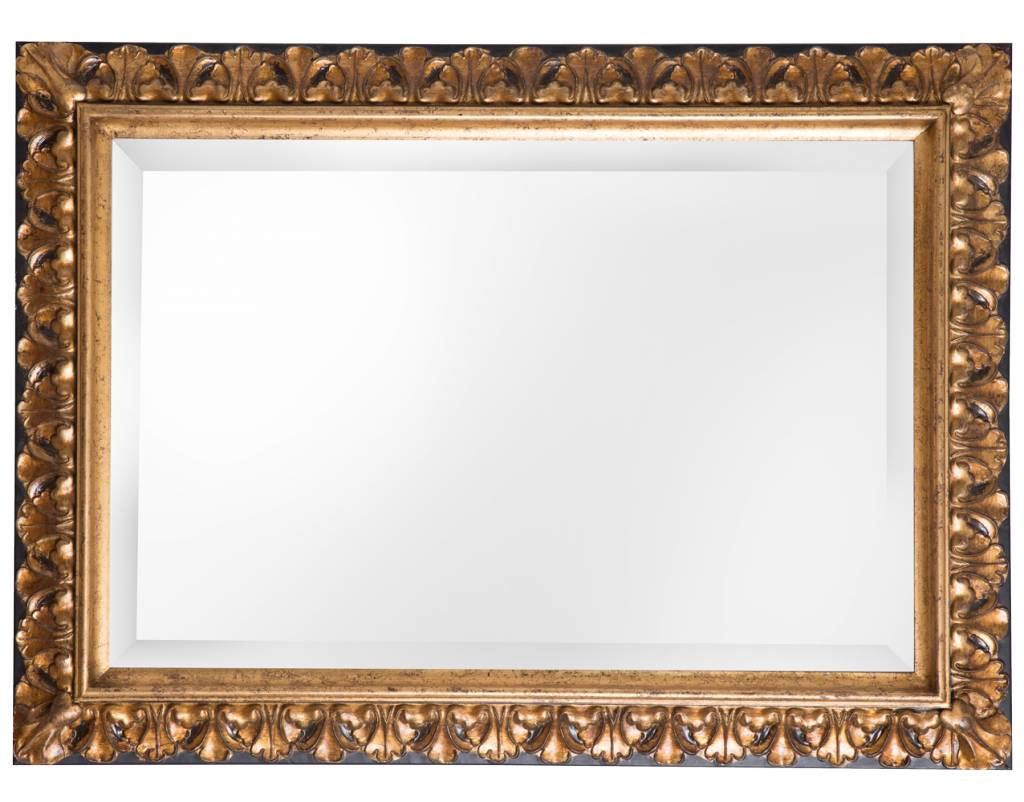 Padua - barokspiegel - goud/zwart 80x140 cm