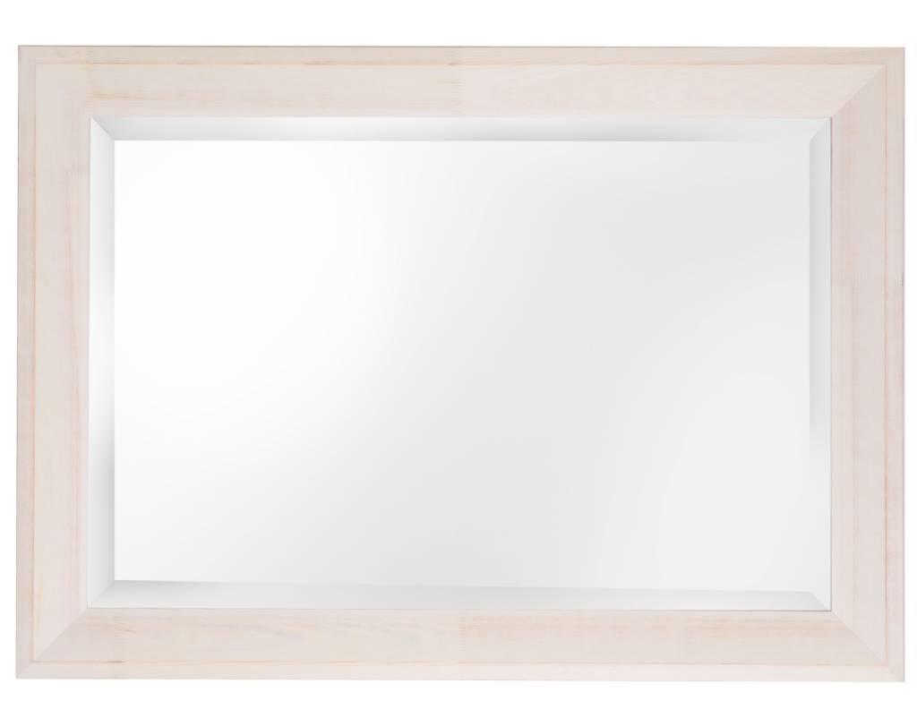 Nantes - spiegel - gebroken wit geschuurd