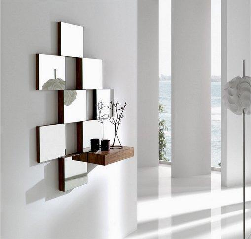 Meerdere spiegels ophangen