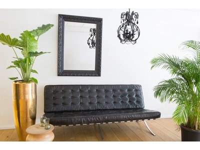 Savona - spiegel - zwart