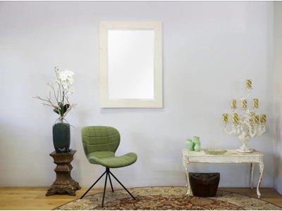 White Wash Spiegel : Wood geschuurde steigerhouten spiegel white wash look kunstspiegel