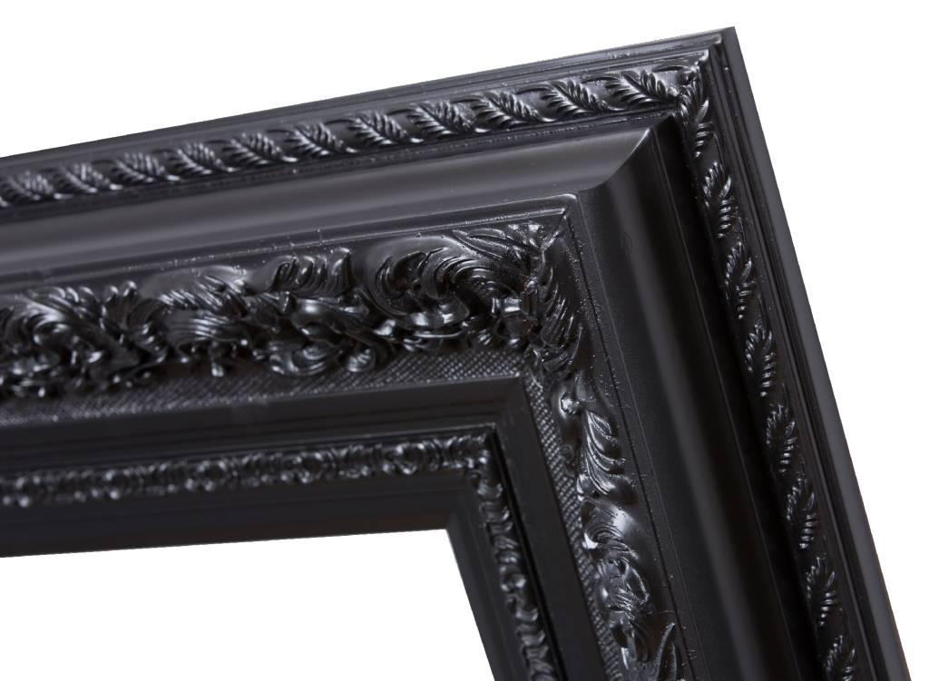 Genova - Luxe Barok Lijst met Windmotief - Zwart Gekleurd