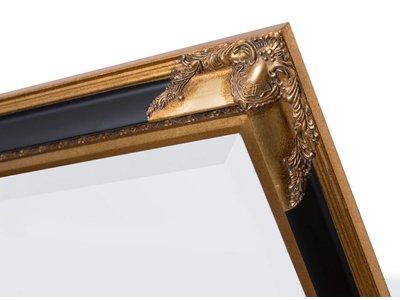 Naples - spiegel - goud/zwart