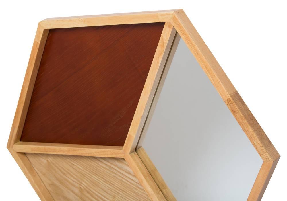 Abruzzo - spiegel 3D kubusvorm - hout