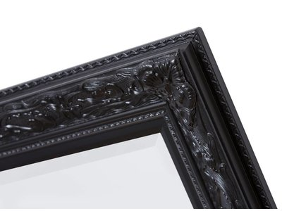 Turin - spiegel - zwart