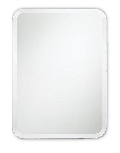 Spiegel met ronde hoeken zonder lijst 60x90 cm