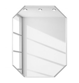 Diamant spiegel zonder lijst 60x90 cm