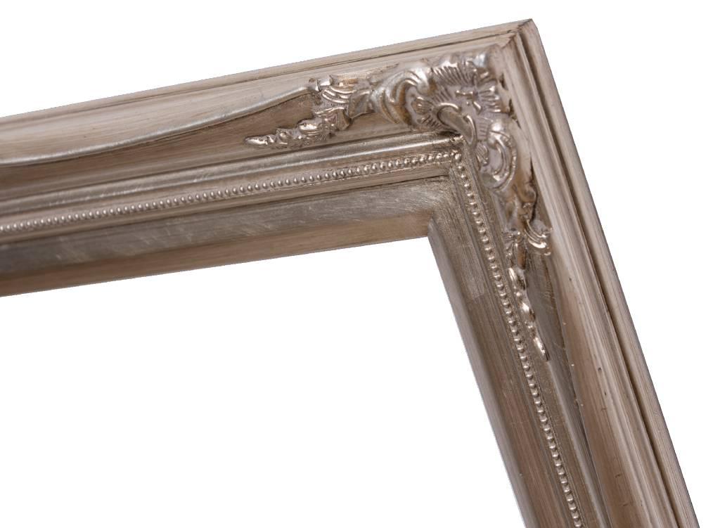 Verona - Klassieke Barok Lijst met Dubbele Rand - Zilver Gekleurd