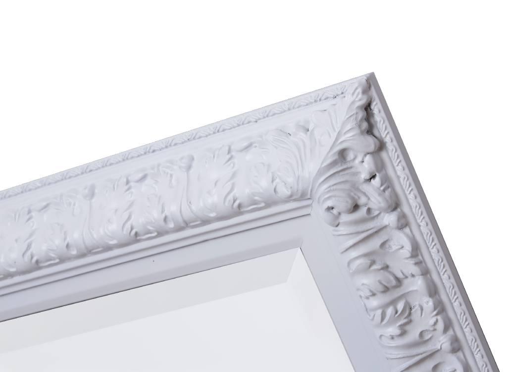 Barok Spiegel Wit : Zaragoza spiegel met barok witte lijst kunstspiegel