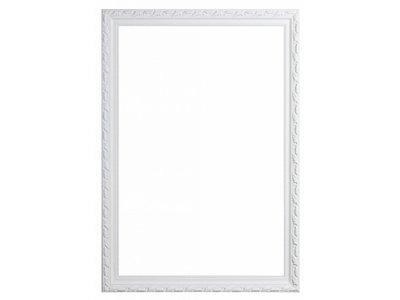 Bonalino - Barok Lijst met Bladpatroon - Wit Gekleurd