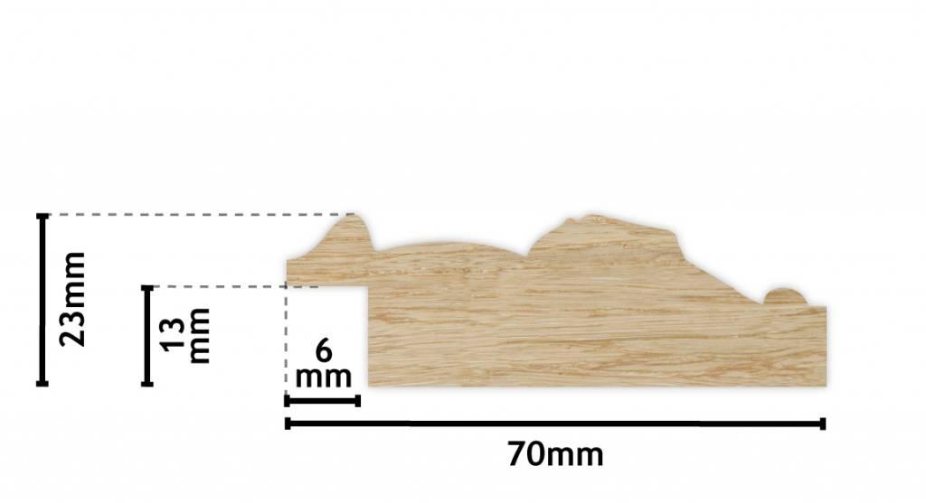 Palmi - Barok Lijst - Wit Gekleurd Frame