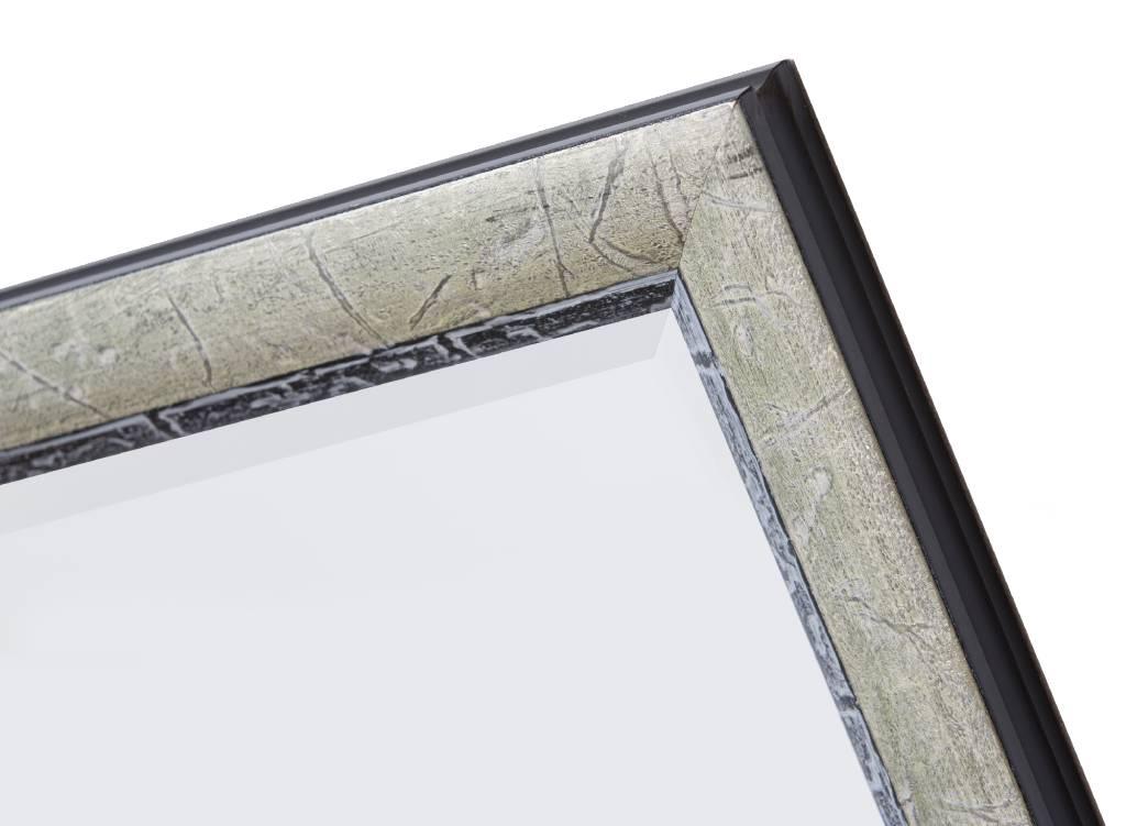 Paola - spiegel - zilver/zwart