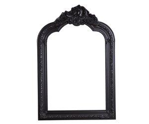 Lange Spiegel Zwart : Parijs franse kuifspiegel met zwarte barok lijst kunstspiegel