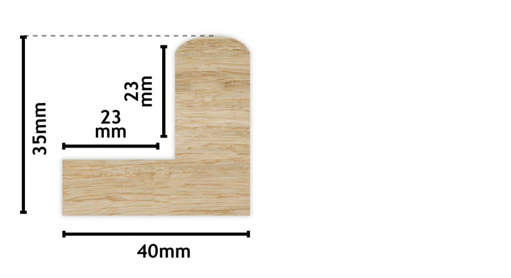 Todi - Baklijst voor Paneel of Doek - Kleur Hout