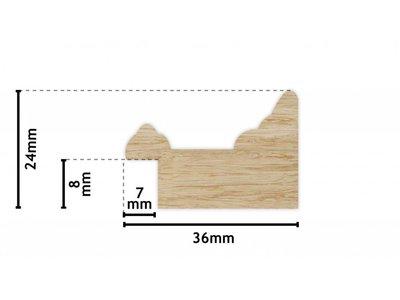Leeuwarden - spiegel - roodbruin/hout