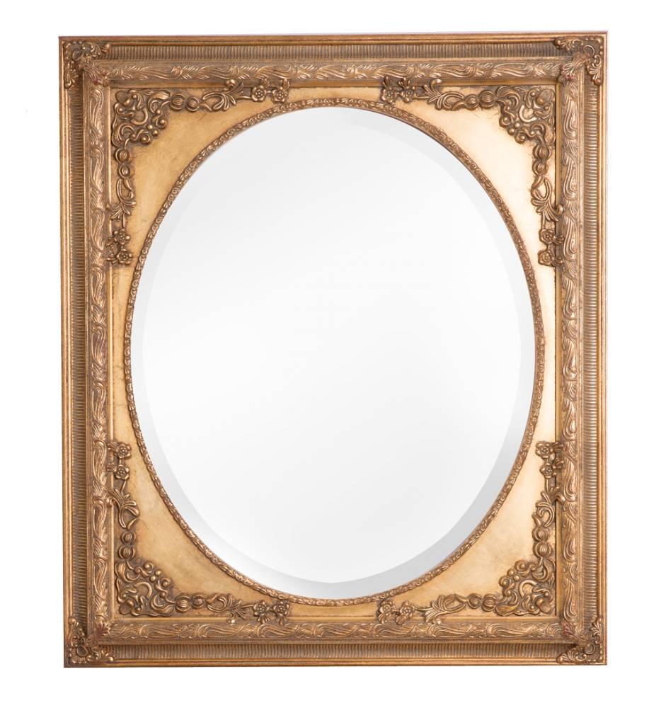 Gouden Spiegel Ovaal.Teramo Klassieke Gouden Ovale Spiegel