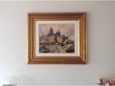 Montpellier - Brede Klassieke Lijst  - Kleur Goud