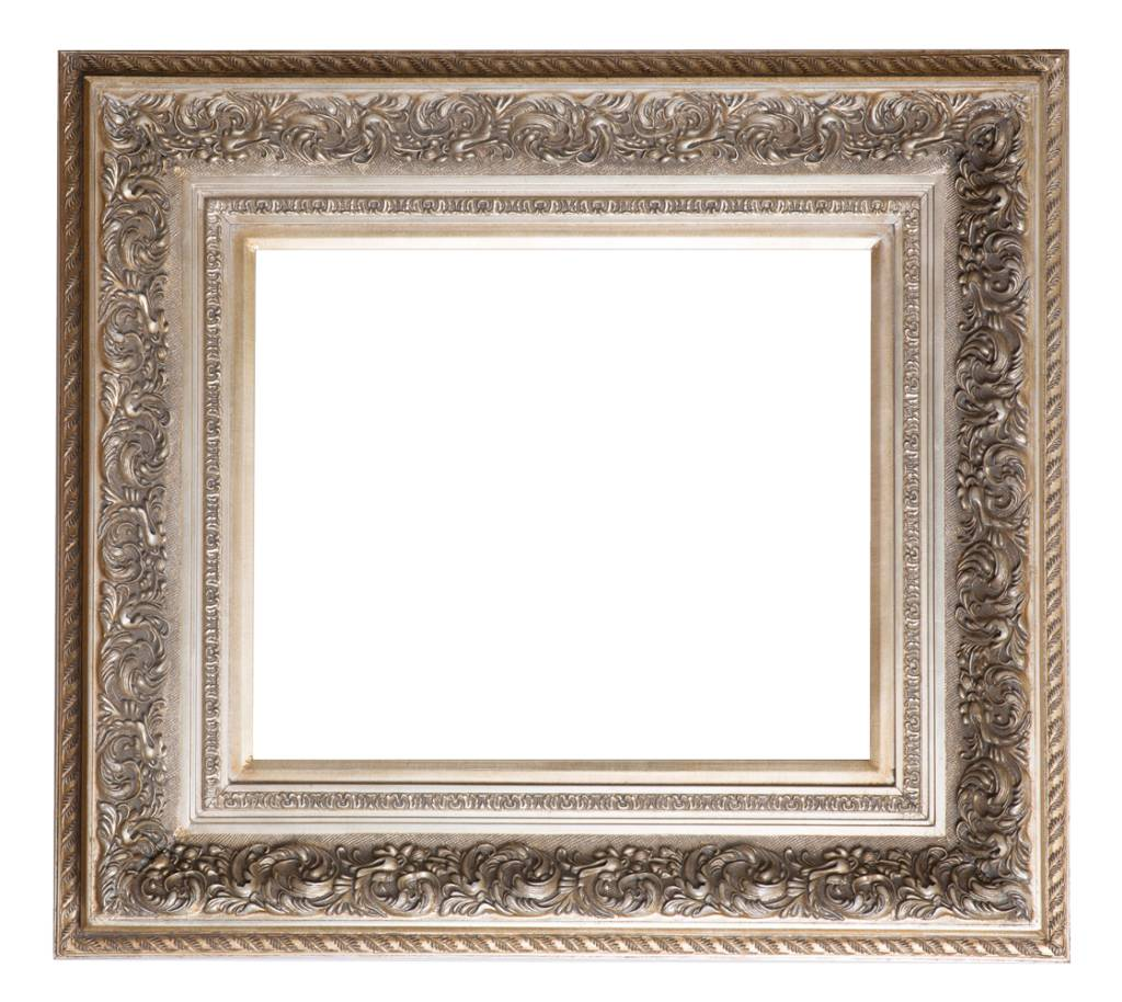 Genova - Luxe Barok Lijst met Windmotief - Licht Zilver Gekleurd